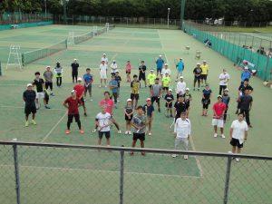 ☆密を避けての集合写真[テニスの日茨城2020講習会]DSC01832